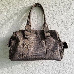 Bueno Snake Print Shoulder Bag